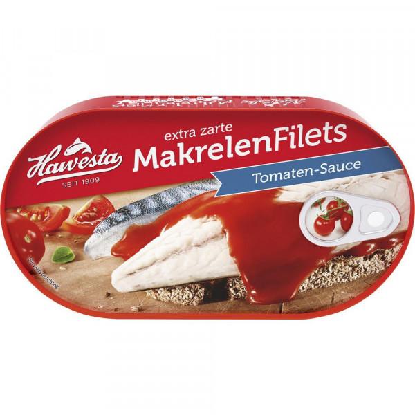 Makrelenfilet, Tomate