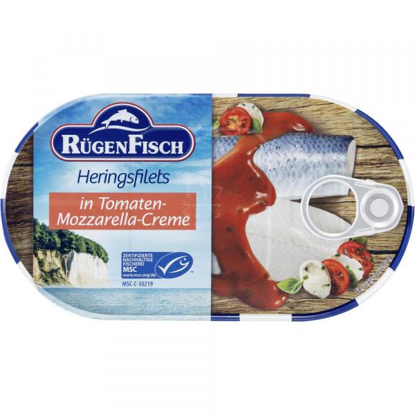 Heringsfilet in Tomaten-Mozzarella-Creme