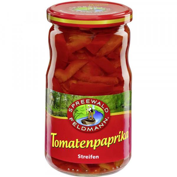 Tomatenpaprika in Streifen