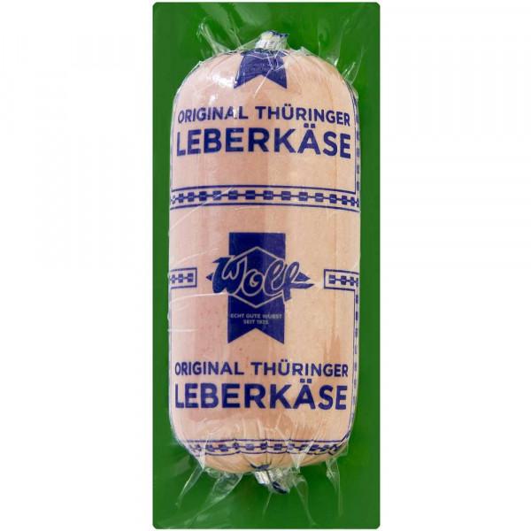 Thüringer Leberkäse im Darm