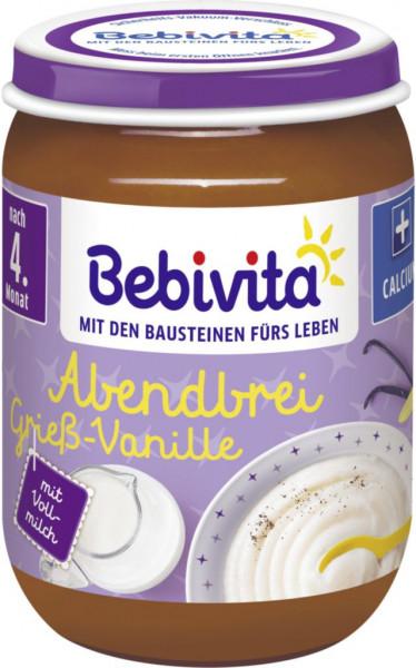 Babynahrung Abendbrei, Grieß/Vanille