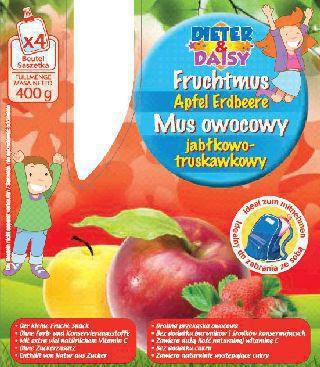 Fruchtmus, Apfel-Erdbeere
