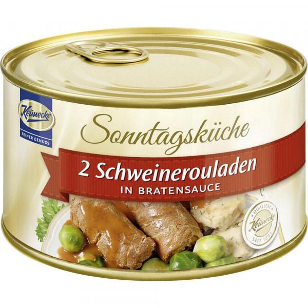 Schweinerouladen, in Bratensauce