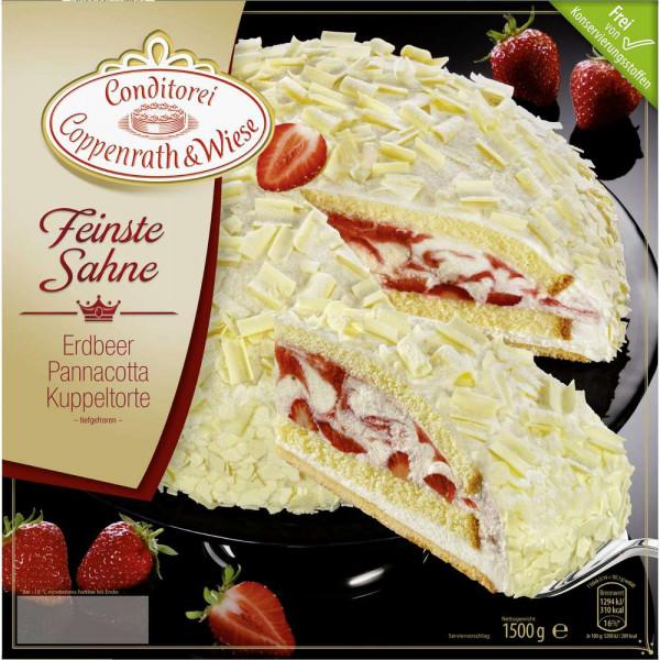 Feinste Sahne Torte Erdbeer/PannaCotta, tiefgekühlt