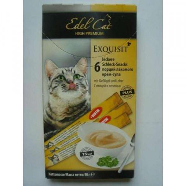 Exquisit Katzen-Schleck-Snacks, Geflügel/Lamm