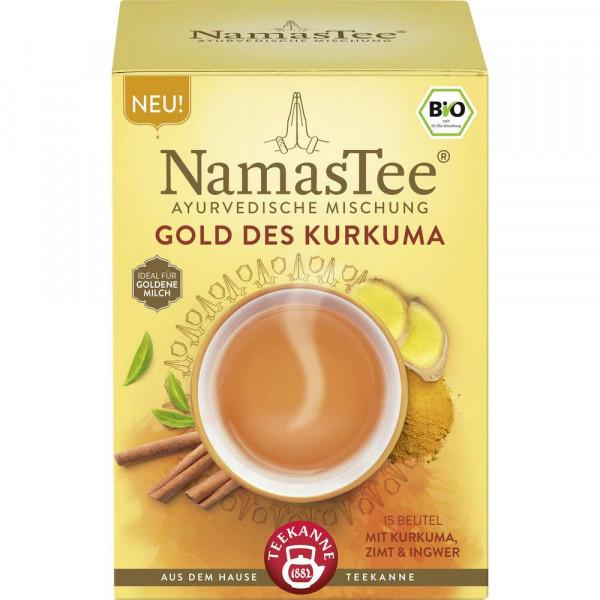 """Bio Tee """"NamasTee"""", Gold des Kurkuma"""