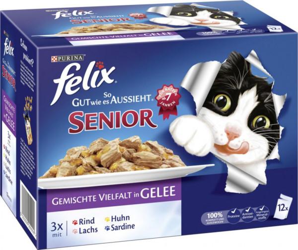 """Katzenfutter Felix """"So gut wie es aussieht"""" Senior, gemischte Vielfalt"""