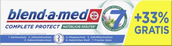 """Zahncreme """"complete protect"""", natürliche Kräuter"""