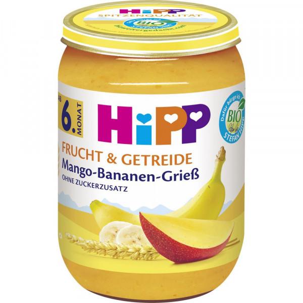 """Babynahrung """"Frucht & Getreide"""", Mango/Banane/Grieß"""