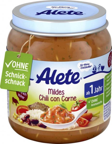 Babynahrung, mildes Chili con Carne
