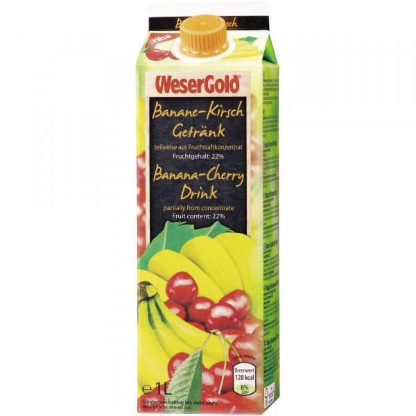 Banane-Kirsch Saft