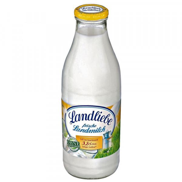 """Milch, """"Frische Landmilch"""", 3,8 % Fett länger haltbar"""