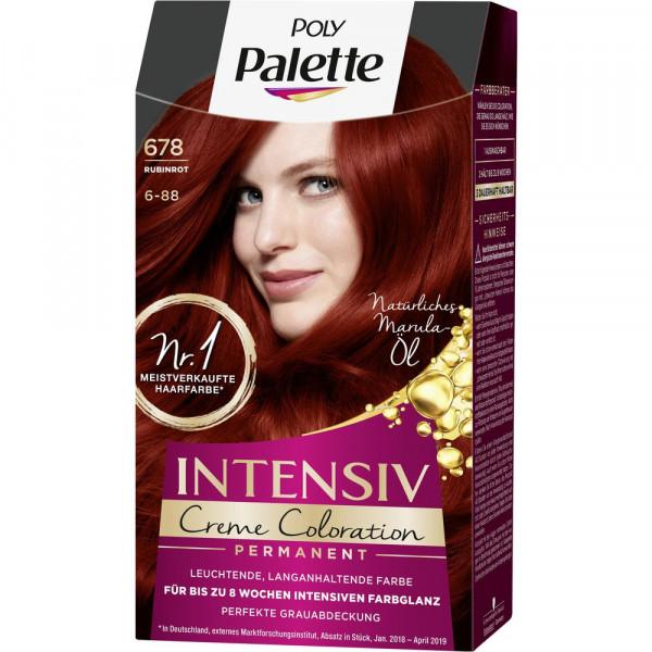 Haarfarbe, 678 Rubinrot