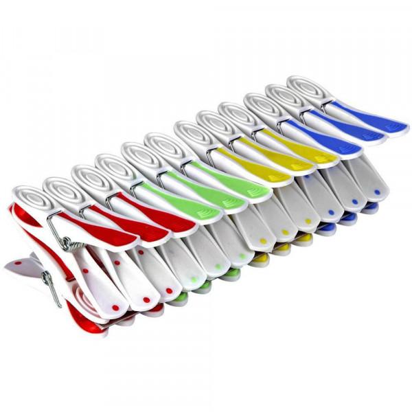 Wäschklammern, 4 Farben