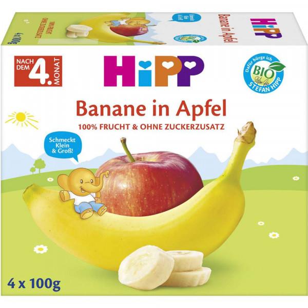Fruchtbecher, Banane in Apfel