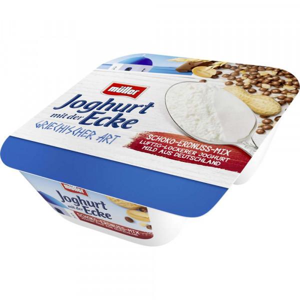 Joghurt mit der Ecke Griechische Art, Schoko/Erdnuss Mix