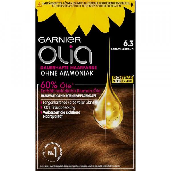 """Haarfarbe """"Olia"""", 6.3 Karamellbraun"""