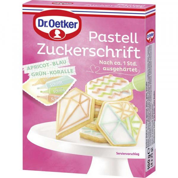 Pastell Zuckerschrift