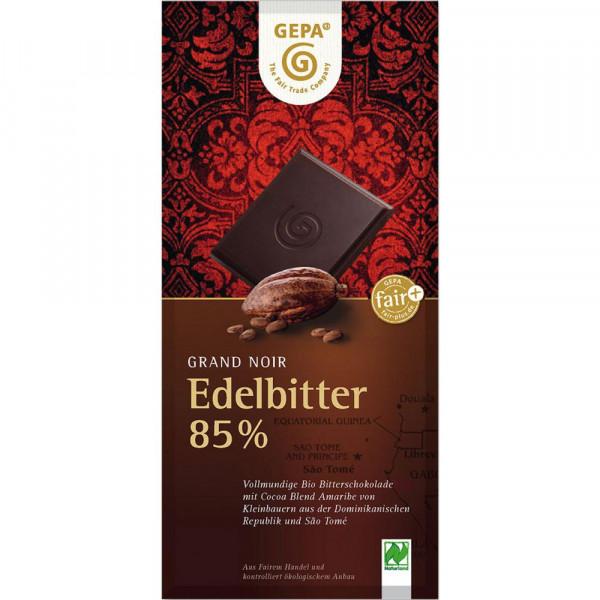 Bio Tafelschokolade, Edelbitter 85%