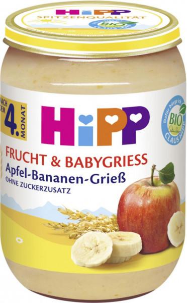 "Babynahrung ""Frucht & Grieß"", Banane/Apfel/Grieß"