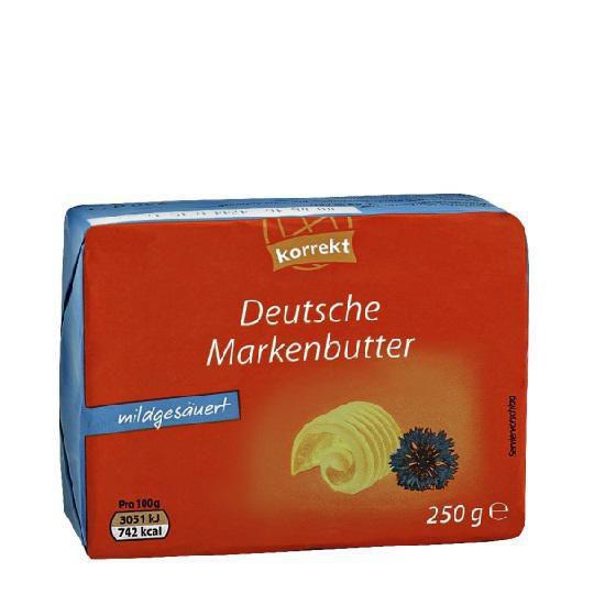 Deutsche Markenbutter, mildgesäuert