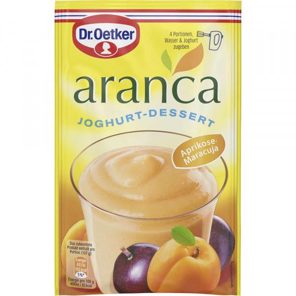 "Joghurt Dessert ""Aranca"", Aprikose/Maracuja"