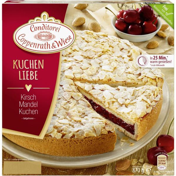Kirsch-Mandel-Kuchen, tiefgekühlt