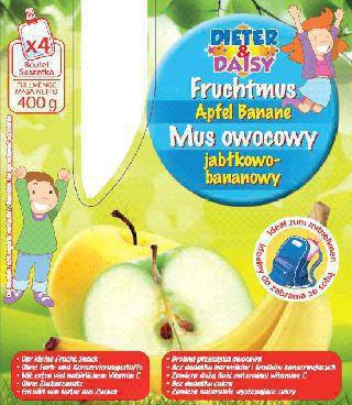 Fruchtmus, Banane-Apfel