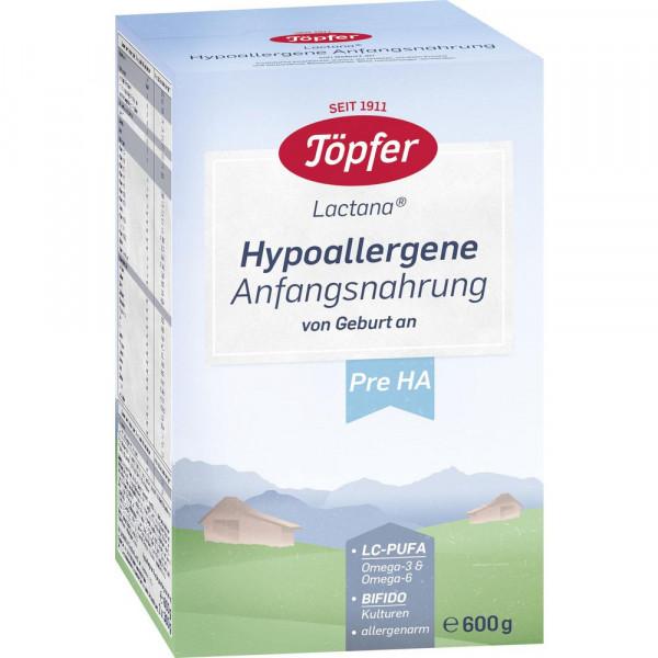 Lactana Hypoallergene Anfangsnahrung, Pre HA