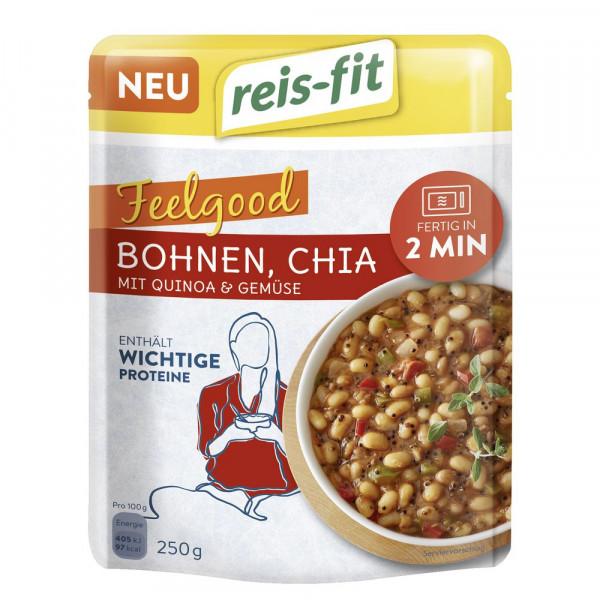 Bohnen, Chia mit Quinoa & Gemüse