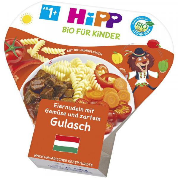Kinder Schalenmenü, Nudeln/Gemüse/Gulasch