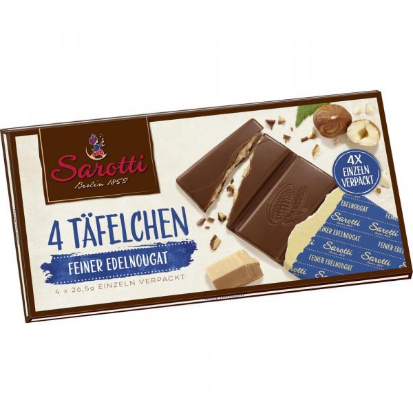 "Schokolade ""4 Täfelchen"", Edel-Nougat"