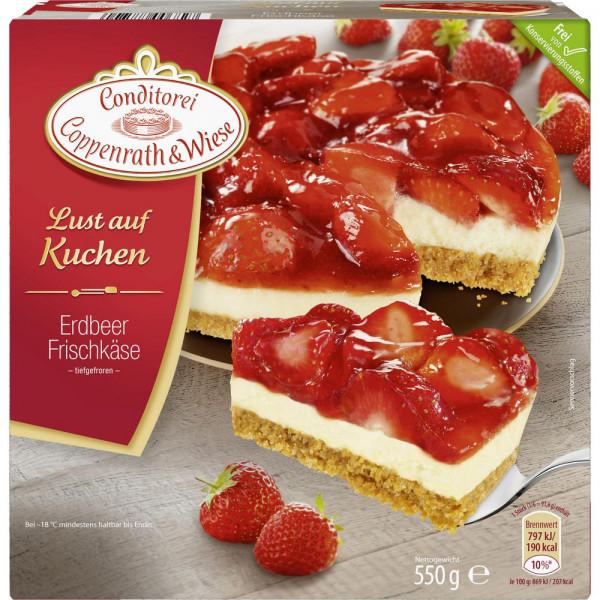 Erdbeer Frischkäse-Kuchen, tiefgekühlt