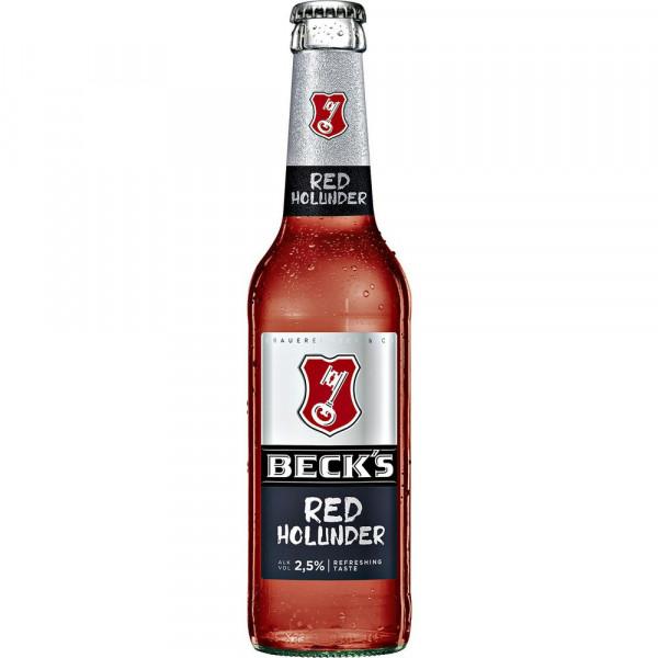 """Biermischgetränk, """"Red Holunder"""" 2,5% (4 x 0.33 Liter)"""