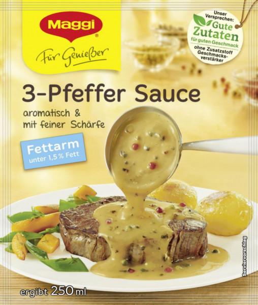 Genießer Sauce, 3-Pfeffer fettarm
