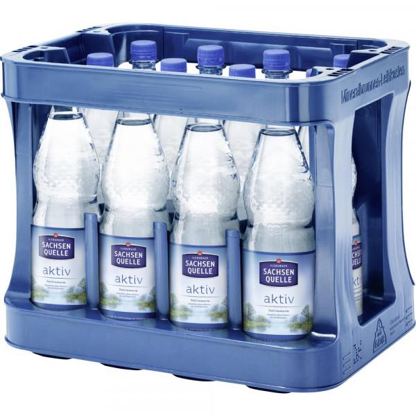 Aktiv Mineralwasser mit Kohlensäure (12 x 1 Liter)