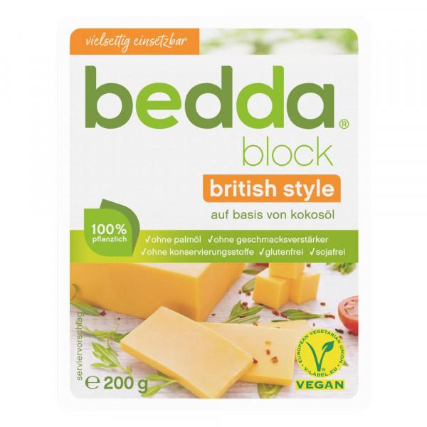 "Käsealternativ ""Block, british style"", vegan"