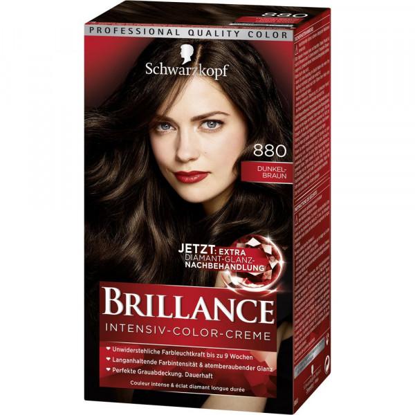 "Haarfarbe ""Brillance"", 880 Dunkelbraun"