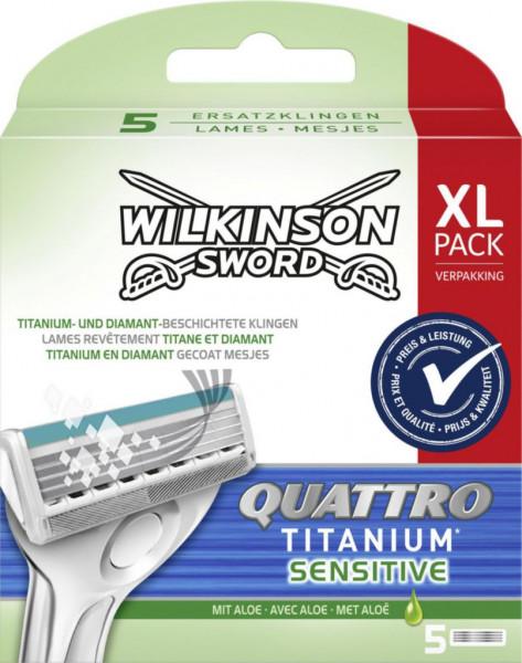 """Rasierklingen """"Quattro Titanium Sensitive"""""""