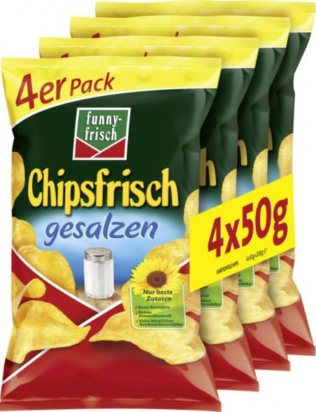 Chipsfrisch Multipack, gesalzen