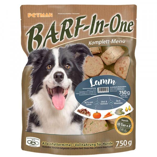 "Hunde Alleinfuttermittel ""Barf-In-One"", Lamm"