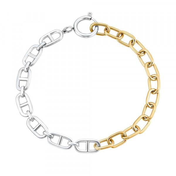 Damen Armband aus Edelstahl, teilvergoldet (4056867028172)