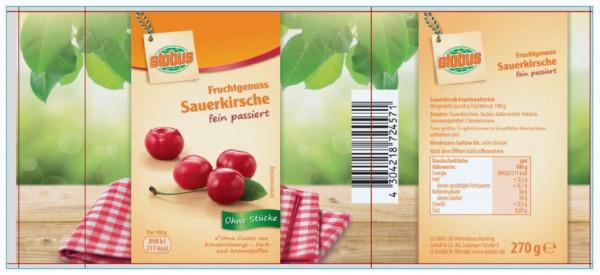"""Fruchtaufstrich """"Fruchtgenuss"""", Sauerkirsch"""