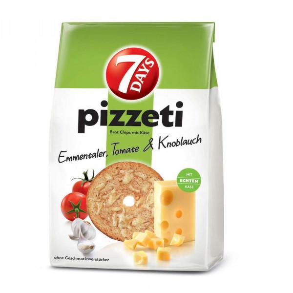 Pizzeti Brotchips, Käse/Tomate & Knoblauch