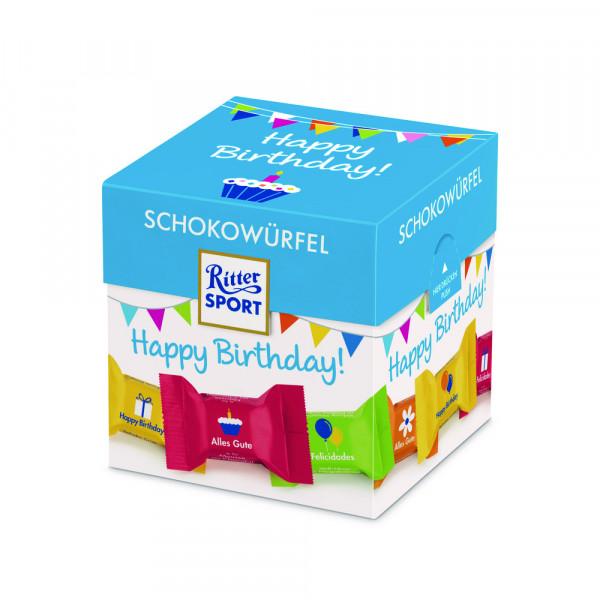 """Schokowürfel """"Happy Birthday"""""""