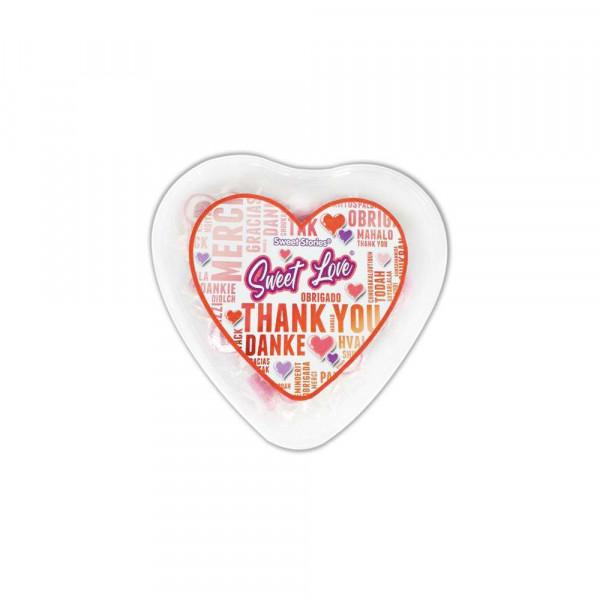 Bonbons in der Herzdose
