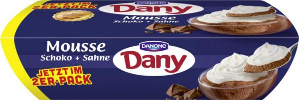 Schokoladen-Mousse mit Sahne 2er