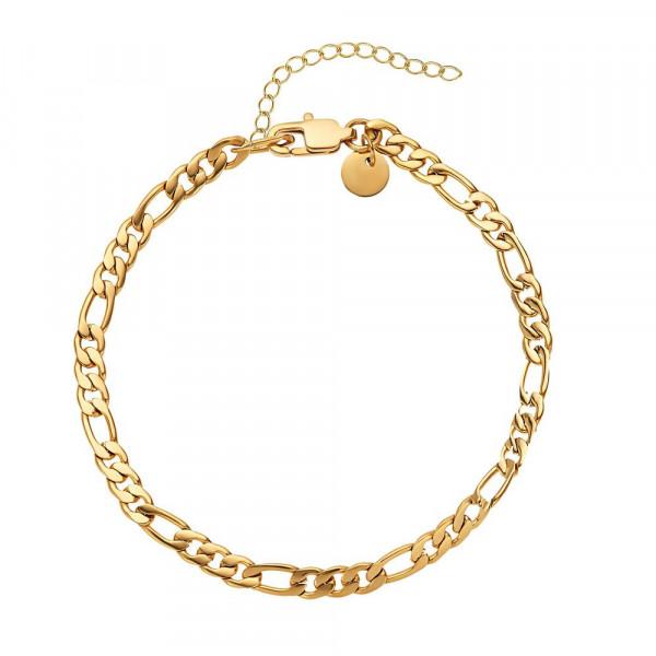 Damen Armband aus Edelstahl, vergoldet (4056874024372)