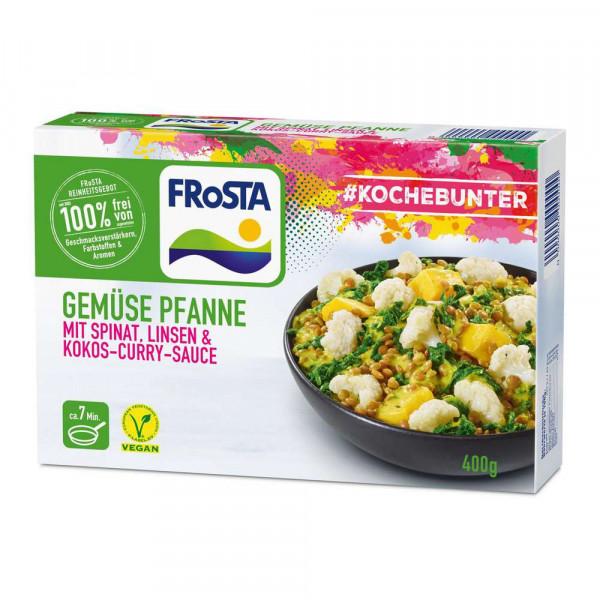 Gemüsepfanne Spinat/Linsen/Curry, tiefgekühlt