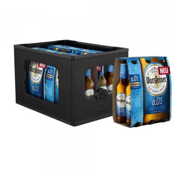 Alkoholfreies Bier, isotonisch(4 Sixpacks in der Kiste zu je 6 x 0.33 Liter)